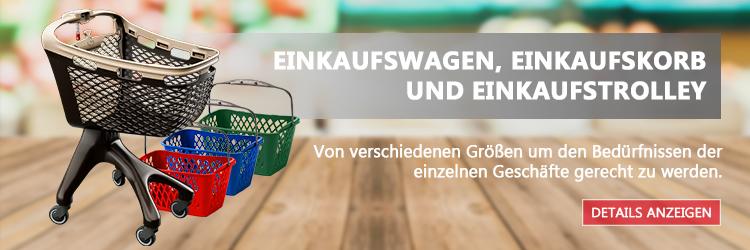 Einkaufswagen, Einkaufskorb und Einkaufstrolley
