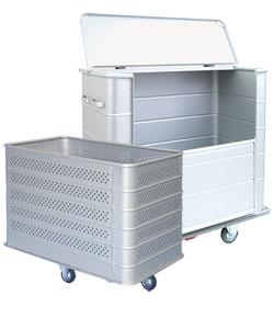 Alu transportwagen und Wäschewagen