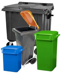 Mülltonne, Abfalleimer und Biotonne