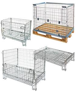 Gitterbox, Palettenaufsatz, Gitteraufsatzrahmen, Palettenaufsatzrahmen