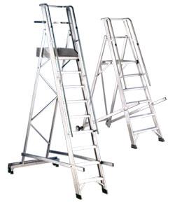 Plattformleitern und Podestleitern