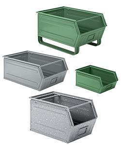Sichtlagerboxen aus Metall