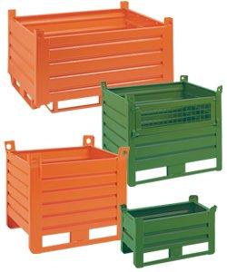 Stahlbehälter, Stapelbehälter und Transportbehälter aus Blech