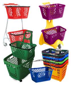 Einkaufskorb Plastik und Einkaufskorb mit Rollen