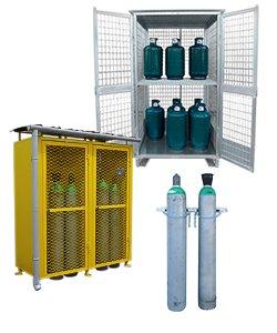 Gasflaschenschränke und Gasflaschen Depots