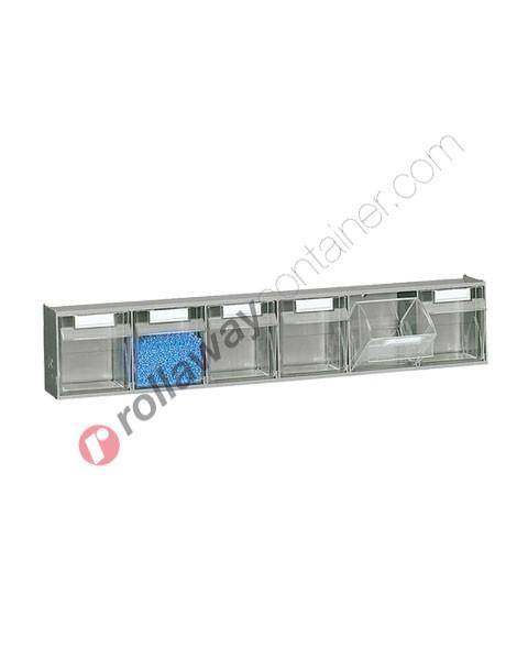 Kleinteilmagazin 600 x 98 mm H 112 mit 6 Schubladen