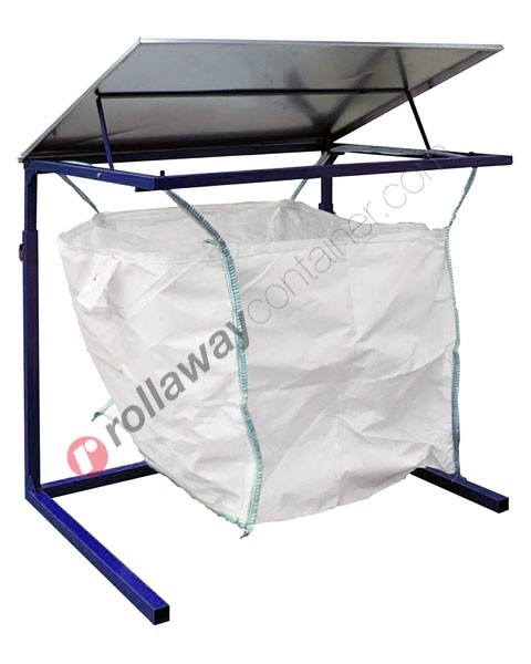 Big Bag Halter aus verzinktem Stahl 1070 x 1070 x 1350 mm zerlegbar