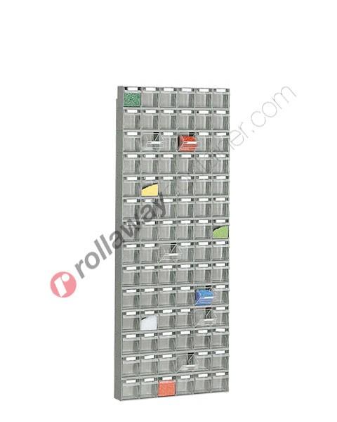 Regal 600 x 113 H 1568 mm mit 84 Schubladen