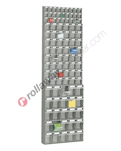 Regal 600 x 156 H 1950 mm mit 100 Schubladen