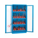 Werkstatt Schrank aus Metall 1023x555 H 2000 mm 2 Polycarbonat-Türen