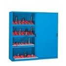 Werkstatt Schrank aus Metall 2046x600 H 2000 mm 2 Schiebetüren