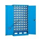 Werkzeugschrank Metall 1023x555 H 2000 mit Regalen und Behältern