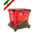Rollwagen Einkaufskorb Plastik 33 und 45 Liter