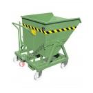 Kippbehälter für Stapler mit 4 Rädern und Klappmechanismus Kapazität 1000 kg
