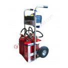 Handwagen für Feuerlöscher aus Aluminium Grisù
