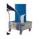 Mobile Auffangwanne Stahl Verzinkt 860 x 860 x 1170 mm für 1 Fass