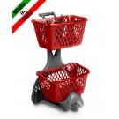 Wagen für Einkaufskorb Plastik