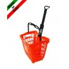 Einkaufskorb mit Rollen aus Kunststoff 45 Liter
