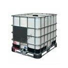 IBC Tank 1000 liter für lebensmittel ADR auf kunststoff und metallpaletten