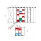 Konfigurieren Sie Ihr Regal für Stapelboxen 500/450 x 300 mm