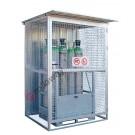 Gasflaschen Container aus verzinktem Stahl mit Tragrahmen 1550 x 1210 mm