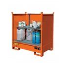 Auffangwanne Stahl Lackiert mit Blechwänden 1350 x 860 x 1460 mm für kleine Behälter