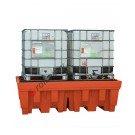 Auffangwanne IBC 1400 Liter aus Polyethylen mit Gitterrost 2400 x 1420 x 740 mm